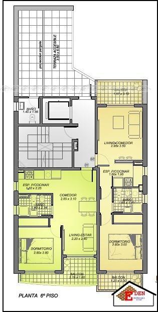 eden propiedades departamento  1 dormitorio a estrenar piso alto | balcarce y urquiza
