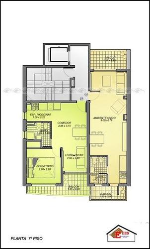 eden propiedades departamento 1 dormitorio externo balcarce y urquiza | rosario