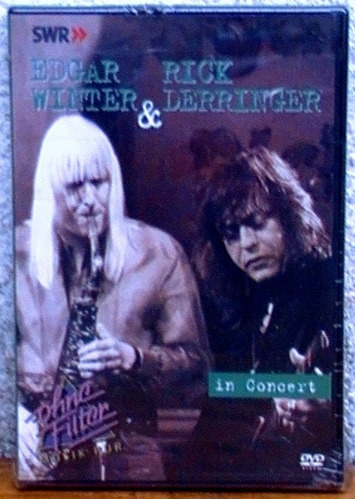 edgar winter & rick derringer - in concert dvd (nuevo cerrad