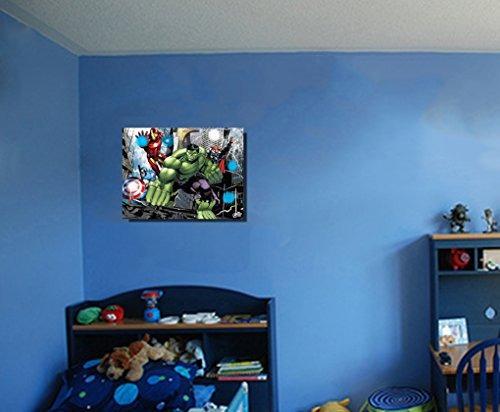 edge home productos avengers lienzo con luces led, 12 por 1