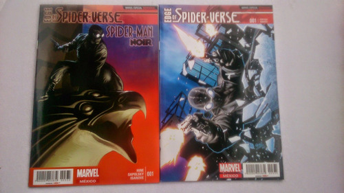 edge of spiderverse #1 portada variante y normal televisa