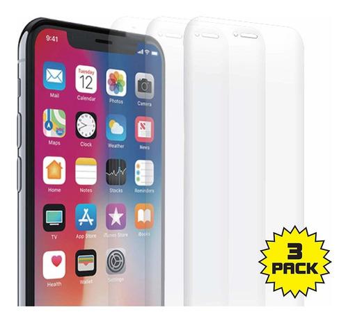 edge2edge 3 pack compatible con iphone x / xs 9h templado g