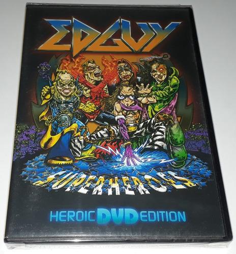 edguy - superheroes - heroic dvd edition (original lacrado)