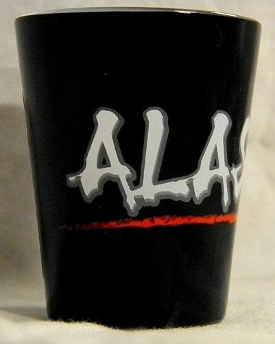 edgy negro de alaska del vidrio de tiro