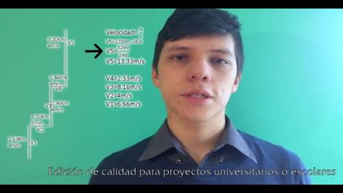 edición de vídeo/ universitarios, escolares, familiares
