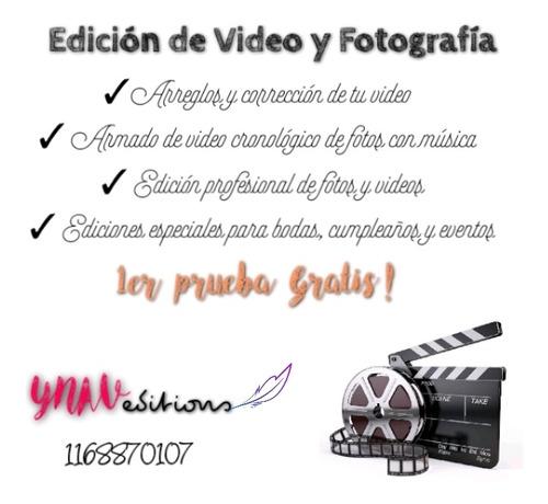 edición de videos de todo tipo. videos de fotos cronologicos