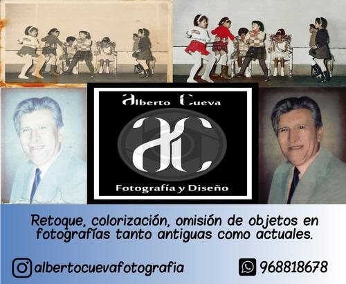 edición, retoque y colorización de fotografías.