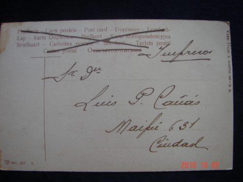edicion  varsi hnos.  calle maipu 150.  antigua postal.