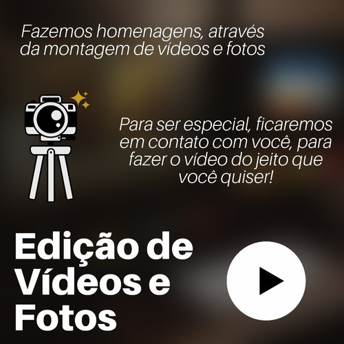 edição de fotos e vídeos