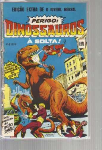 edição extra dinossauros a solta - formatinho ebal c cometa