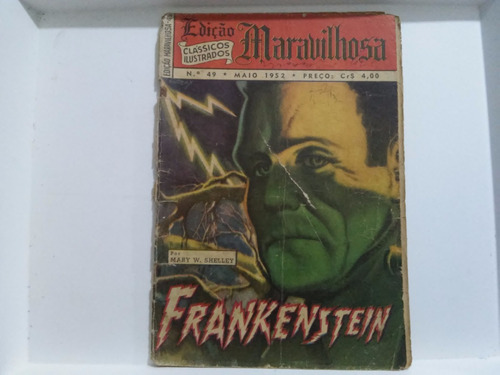 edição maravilhosa nº 49 ebal 1952 frankestein