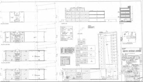 edificio de oficinas corporativas desarrolladas en pb y 3 pisos con 10 cocheras en olivos