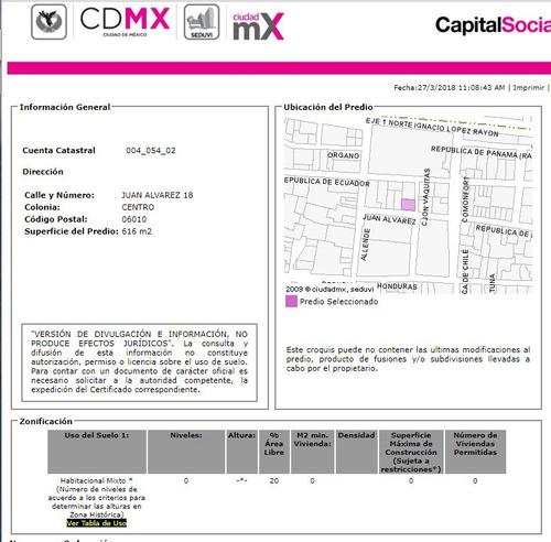edificio de remate en el centro de cdmx, pago de contado