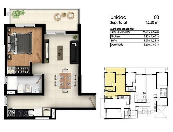 edificio en obra - 1 dormitorio - 1 de mayo 2100