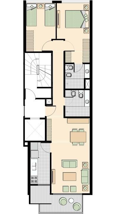 edificio l+ unidades de 1 y 2 dormitorios