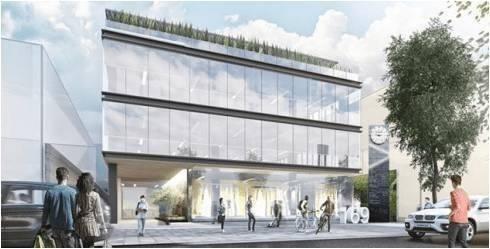 edificio nuevo en obra gris, piso 1  con 1500 m2 masaryk169