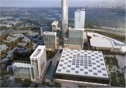 edificio nuevo obra gris, piso 9 al 19 con 2100 m2 mitikah