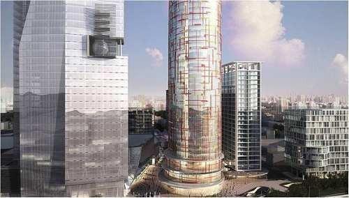 edificio nuevo obra gris, piso 9 al 19 con 2100 m2 mitikah2