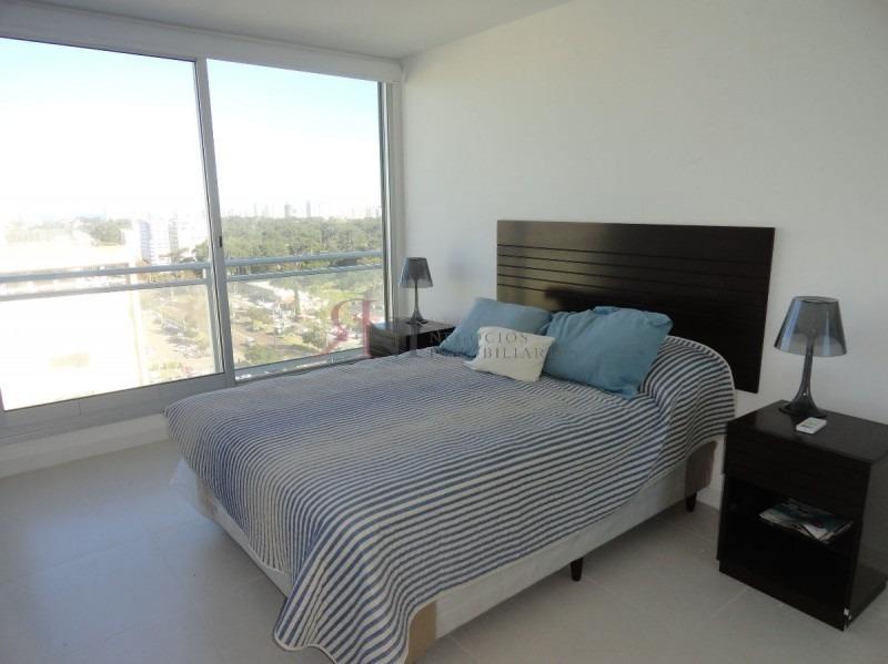 edificio nuevo, piso alto, vista al mar, garage, buenos servicios- ref: 9326