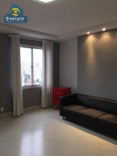 edíficio villa europa, apartamento residencial à venda, jardim bela vista, santo andré. - ap8653