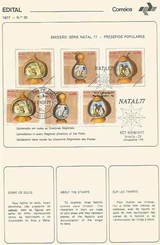 edital 1977 n.30 c/selo e carimbo primeiro dia