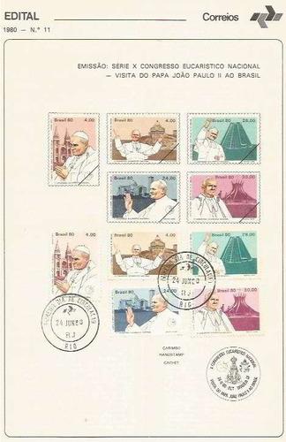 edital 1980 n.11 c/selo e carimbo primeiro dia