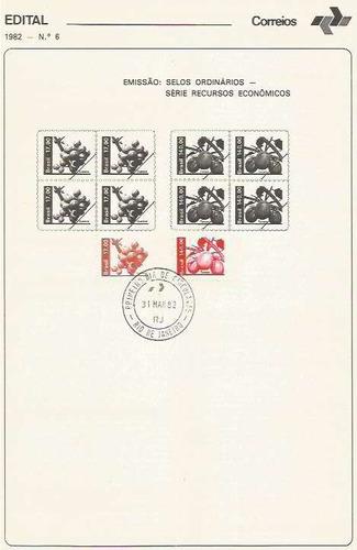 edital 1982 n.06 c/ selo e carimbo de primeiro dia