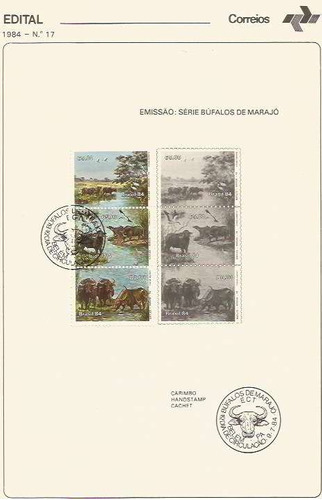 edital 1984 n.17 c/ selo e carimbo de primeiro dia