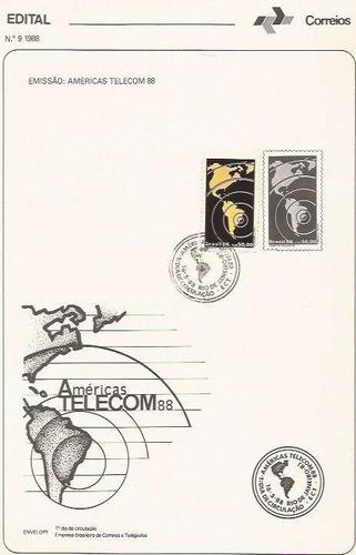edital 1988 n.09 c/selo e carimbo de primeiro dia