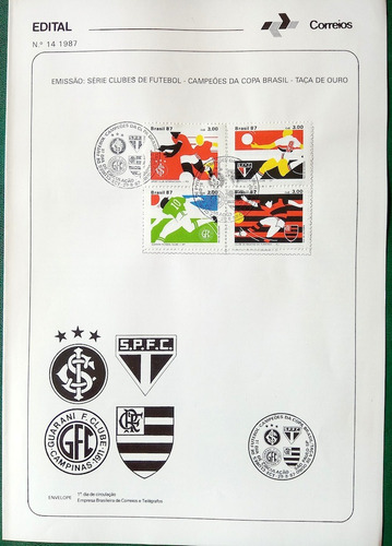 edital nº 14 - 1987 inter sao paulo flamengo com selo cbc
