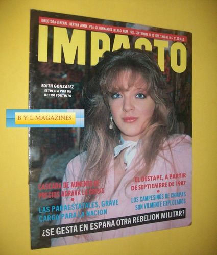 edith gonzalez revista impacto 1985
