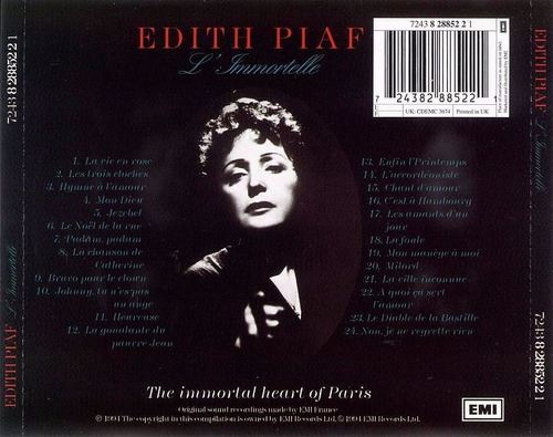 edith piaf  l immortelle cd import