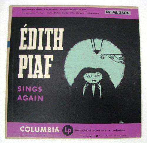 edith piaf sings again disco lp 10  columbia usa año 1951