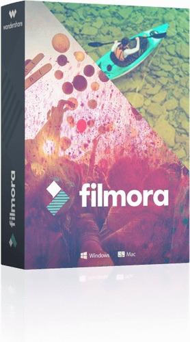 editor de video wondershare filmora 8.2 + pack de efectos