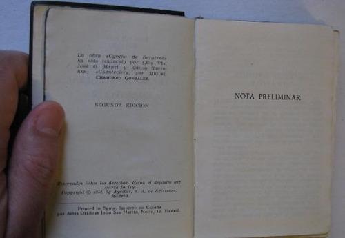 edmond e rostand cyrano bergerac chantecler aguilar año 1954