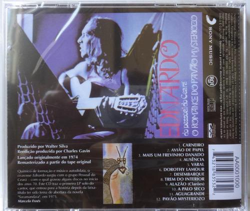 ednardo * o romance do pavão mysteriozo * cd lacrado