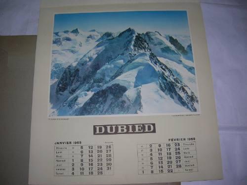 edouard dubied neuchatel & c calendario almanaque 1958 suiza