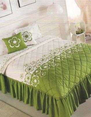 edrecolcha y sabanas king size floreta verde competition hm4