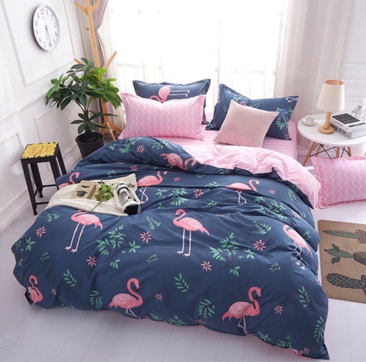 8f4000889 edredom casal flamingo. Carregando zoom.