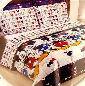 7795e3705d Lencol Mickey Mouse Casal no Mercado Livre Brasil