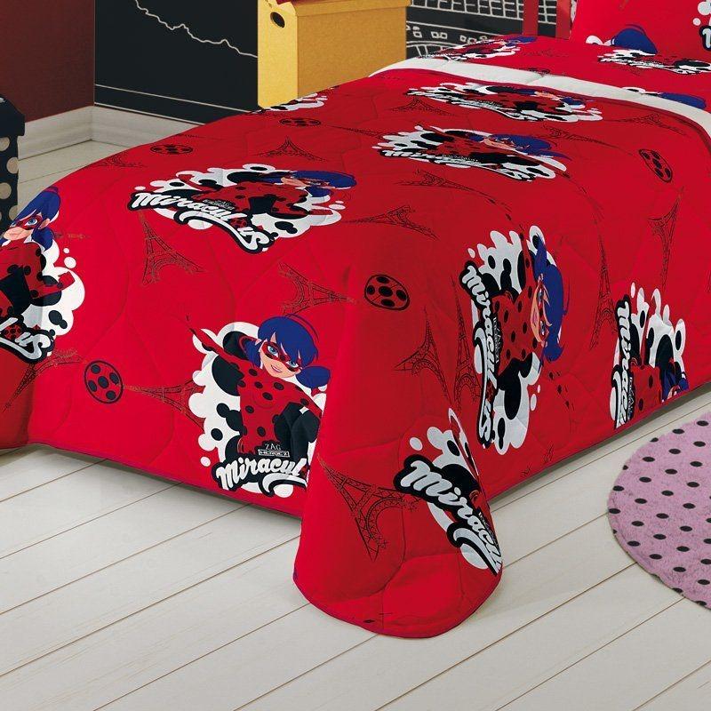 479c268028 edredom infantil menina vermelho ladybug estampada miraculou. Carregando  zoom.