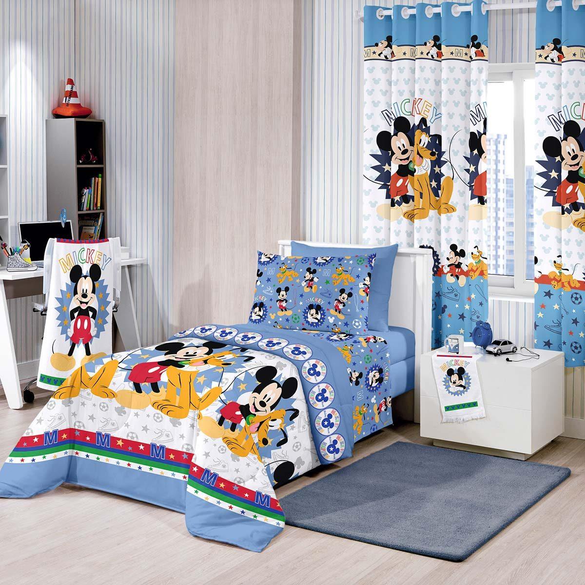 7cc41c5d03 edredom infantil mickey happy disney santista. Carregando zoom.