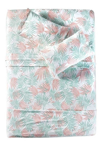 edredon 100% algodón ind tropical +sabanas +cortinas vianney