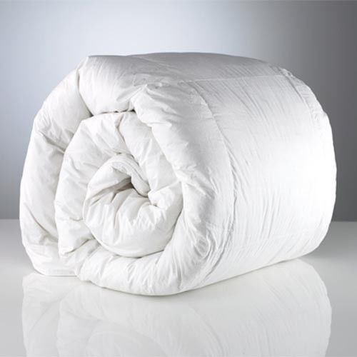 edredon blanco en tela 100% algodón percal 2 plazas