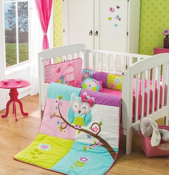 Edredon cama cuna corral doroty buho vianney envio gratis 1 en mercado libre - Cuna cama para bebe ...
