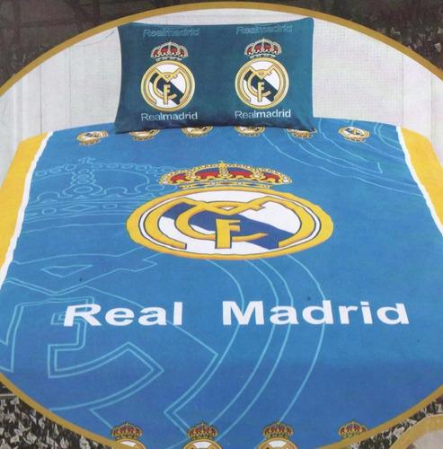 Edredon individual real madrid barcelona con juego de for Juego de real madrid