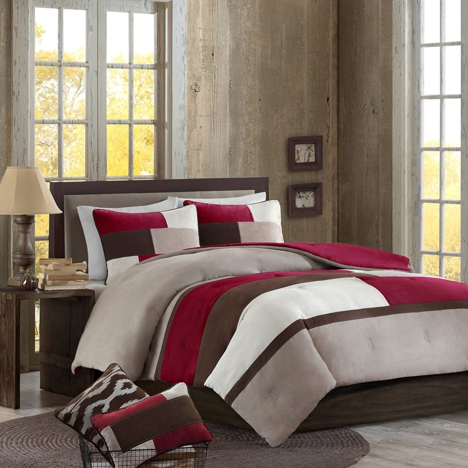 Edredon individual xl colcha y funda tela microsued rojo - Better homes and gardens comforter sets ...