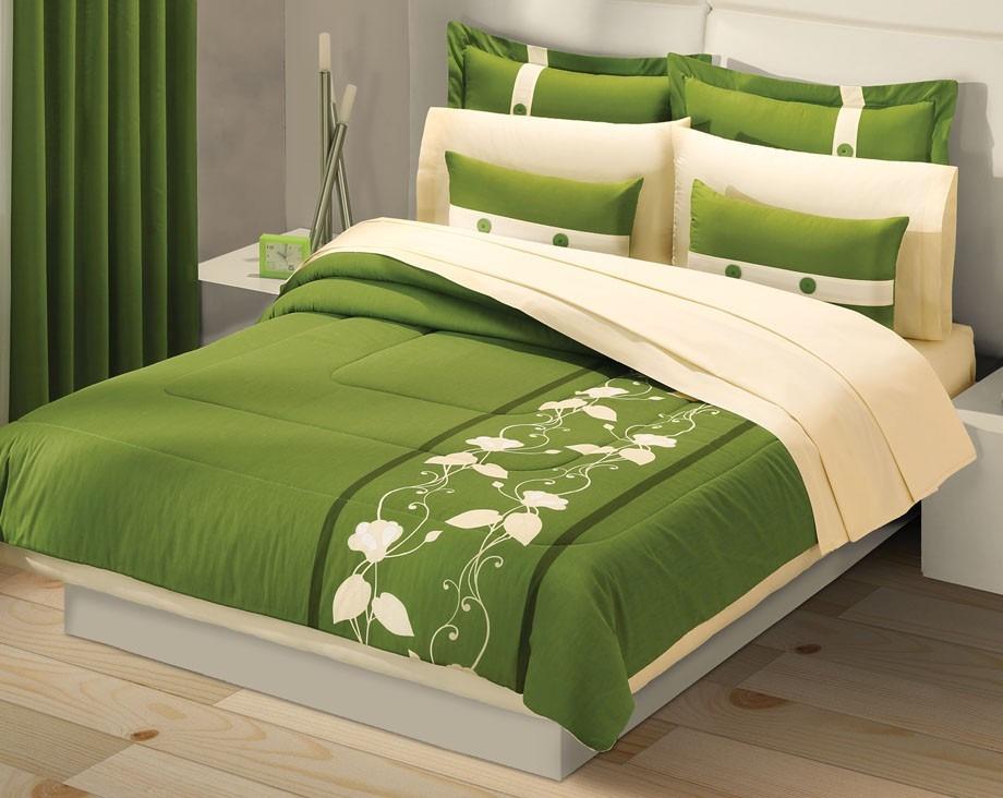 Juego de edredon king size jade verde concord 2 for Cuanto cuesta una cama king size