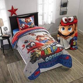 Edredon De Mario Bros.Edredon Mario Bross Individual 2 Piezas Nuevo