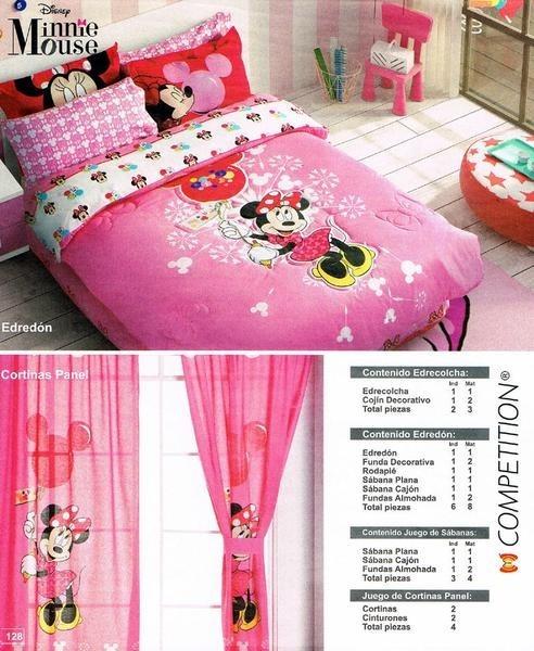 Edredón Minnie Mouse Matrimonial Envio Gratis! Nmr   $ 1,750.00 en